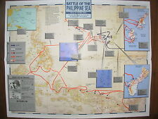 IMAGES OF WAR WWII CAMPAIGN MAP MARIANAS PHILIPPINE SEA DEC 1943 TO AUG 1944