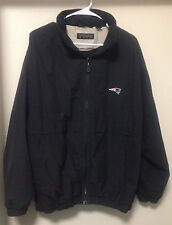 New England Patriots Reebok Golf Mens Jacket Medium Stitched Black Hooded