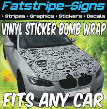 PEUGEOT 106 107 206 207 STICKER BOMB BONNET WRAP CAR GRAPHICS DECALS STICKERS