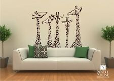Giraffe Family Wall Decals - Vinyl Sticker Art