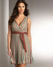 100%authentic M Missoni Vertical Stripe Surplice dress 44/8