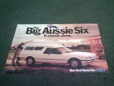 Octubre 1986 Ford Australia Falcon Aussie van GL & S-Color prospecto Folleto