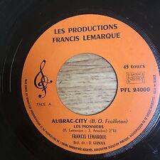 45 tours TV Générique Aubrac city Francis Lemarque Western Pas de pochette EXC