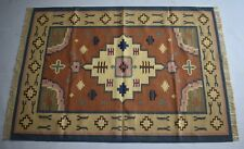 Tribal Handmade Cotton Kilim 4x6 Feet Bohemian Floral Area Rug DN-909