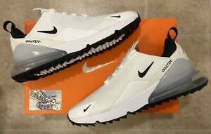 Nike Air Max 270 G Golf Shoes Cleats Spikeless White Black Waterproof CK6483 102