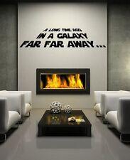StarWars Film Intro vinyl wall art decal sticker gifts for Star Wars fan gadgets