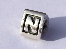 Authentic Pandora Charm Alphabet Initial Letter N 790323 retired