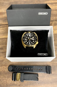 Seiko Prospex SRPC44 Turtle Diver Automatic Watch 200M Gold Tone Silicone w/ Box