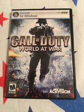 PC CD ROM Game Call Of Duty World At War With Case And Manual
