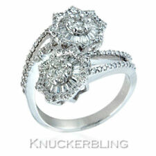 Cocktail Natural White Gold Fine Diamond Rings