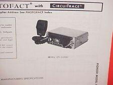 1978 PIONEER CB/AM-FM/FM STEREO RADIO SERVICE SHOP MANUAL MODEL GT-1100G