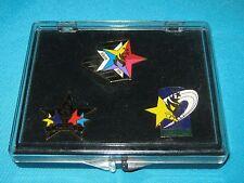 RARE ATLANTA 1996 USA OLYMPICS GAMES STAR 3 PIN SET IN CASE