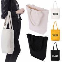DIY  Women Girls Handbag Canvas Tote bags Reusable Cotton Shopping Bag r*tHGUK