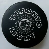 TORONTO LIGHT SILVER CREEK BREWERY VINTAGE VICEROY MFG. OFFICIAL GAME PUCK  RARE