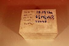 Titanium 6AL-4V  6-1/8 x  4-1/2   x 4-1/8,  18.19Lbs. Block, Sheet, Plate, bar