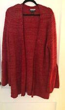 Allison Brittney Size L Red Sparkly Cardigan
