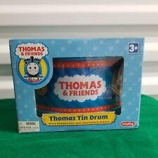 Schylling Thomas & Frienda Thomas Tin Drum Toy w/ Drumsticks Adjustable Strap