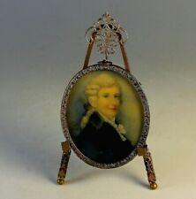 Antique Hand Painted Miniature Portrait of a Scottish Gentleman