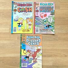 Richie Rich Comic Books 42 43 105 Shrinking Kid Grab Bag Magic Classes Cash Cent