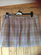 JOULES Pure Wool Check Mini Skirt BNWOT