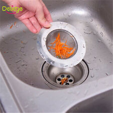 Stainless Steel Kitchen Sink Strainer Waste Plug Drain Stopper Filter 7.5cm NEW