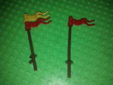 LEGO castle minifig  lot de 2 porte étendards