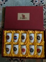 Sake Cup Set of 10. Lima 2003 Taiwan Aboriginal