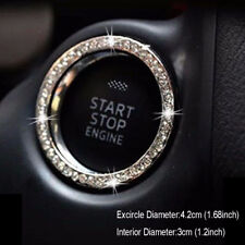 For SUV Car Bling Decorative Accessories Button Start Switch Silver Diamond Ring