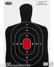 8 PACK BIG 12X18 SILHOUETTE HAND GUN TARGET RANGE TRAINING PISTOL RIFLE SHOOTING