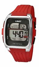 Limit Mens' Red Digital Sports Watch Silicone Strap 5564
