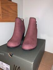 NIB Timberland Women's Tillston High Heel Ankle Boots Burgundy Brown - size 10