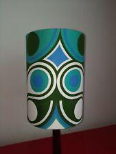 Lampshade Retro Vintage 60s 70s Lamp fat lava geometric fabric drum 28cm tall