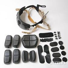 FMA ACH Occ-Dial Liner Kit + Pads For Fast Helmet BK/DE L/XL OPS Adjustable