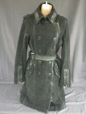 LaMarque Black Long Steampunk Gothic Nubuck Leather Fully Lined Jacket Sz S