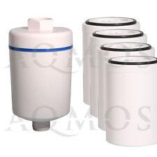 1 Duschfilter Weiß + 4 Wechselfilter Kalkfilter Allergie Reisefilter Chlor Rost