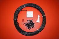 30m Black 2 Pair External Telephone Cable Extension Kit