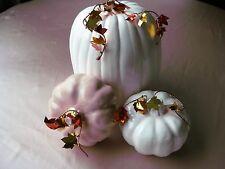 NEW 2018 Made in USA 3 pc Ceramic Elegant Pumpkin Decor  Pastel Satin Glazes