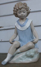 "Lladro NAO Happy Smile Porcelain Figurine Retired 9"" Tall Francisco Catala"