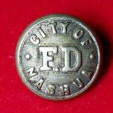 1890-1910 Nashua Fire Department Button