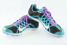 Women's Nike Zoom W3 Track Running Spike Shoes ~ Black Blue White ~ Size 6.5