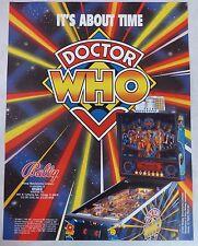 "1992 Bally ""Doctor Who"" Pinball Machine Flyer/Brochure Original"