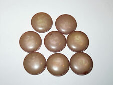 8 21mm Pink Pearlized Pearly Pearlescent Vintage Buttons 1960s