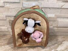 Plush Finger Puppets Farm House Pig Cow and Horse Unipak Designs