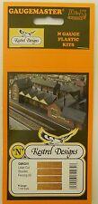 Kestrel KD51 - Wooden Fencing X4            Laser Cut Card       N Gauge Railway