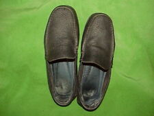 Tommy Bahama Black Pebbled Leather Slip On Driving Loafers 8.5 Nassau Venetian