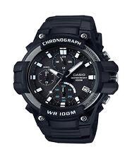 Casio Men's Quartz Chronograph Black Resin Band 50mm Watch MCW110H-1AV