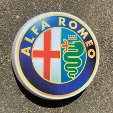 ALFA ROMEO 1982 - 2015 LED ILLUMINATED LIGHT UP GARAGE SIGN PETROL GAS CAR LOGO