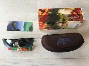 brand NEW original Maui Jim Banyans 412 02 Black Grey Polarized sunglasses