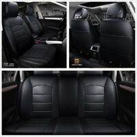 Standard Edition PU Leather 6D Surround Car Front+Rear Seat Cover Protector Mat