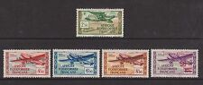 French Eq. Africa - SG 156, 158/60, 162 - l/m - 1940 - Air (5 stamps)